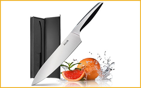 "Best Chef Knives under 50 Dollars Aicok USAFF76668 - Best Chef Knives under 50 Dollars with 8"" Blades"