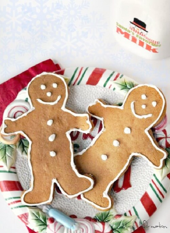 decorated gingerbread men on a plate