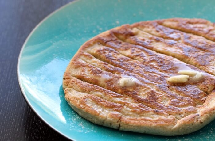 gluten-free naan bread on a plate