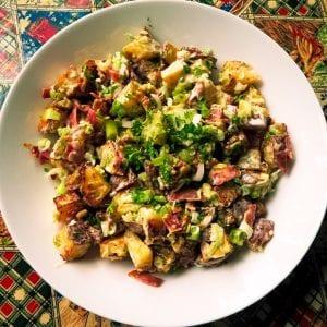 creamy roasted potato salad ready to serve 2