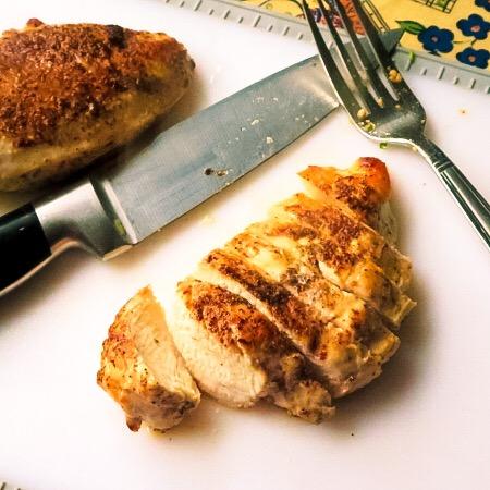 slice the chicken
