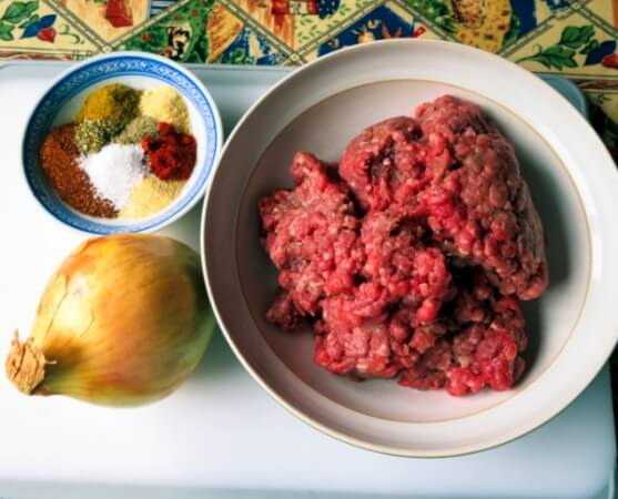 Ingredients for the Meat Filling