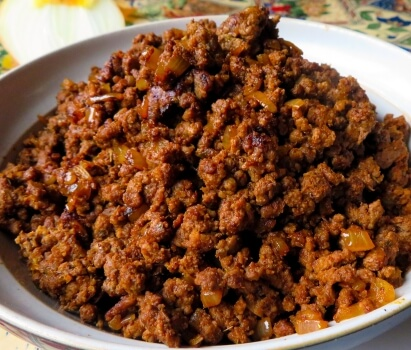 cooked taco meat