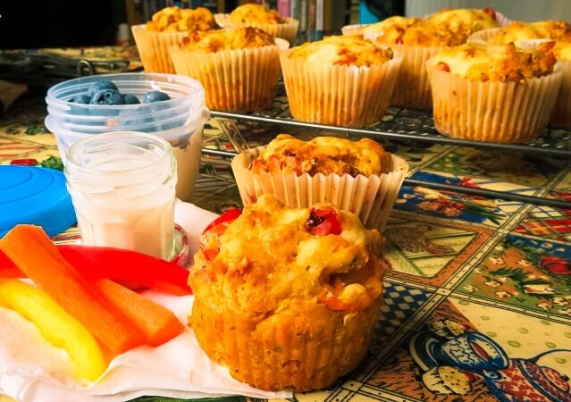 ready to eat pizza muffins