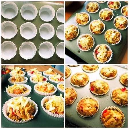 baking pizza muffins
