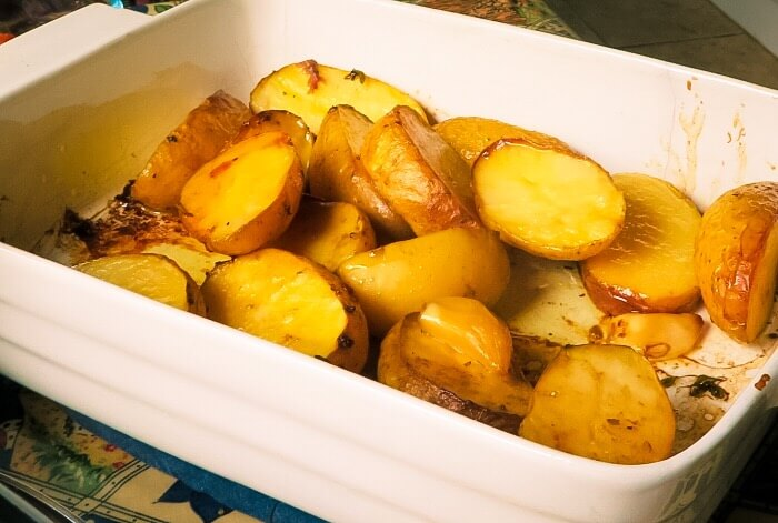 amazing melting potatoes in pan