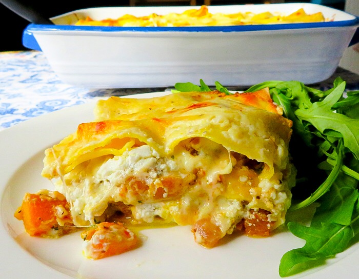 Mouthwatering Squash Lasagne with Goat's Cheese Recipe | Marie Rayner