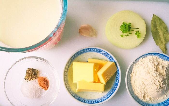 Ingredients for Bechamel