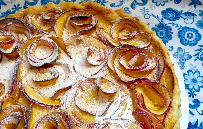 Delightful Apple and Cardamom Custard Tart | Marie Rayner