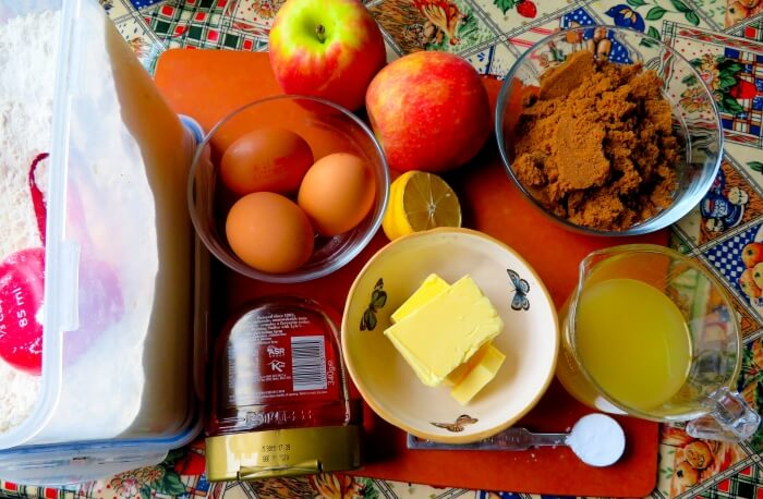 Ingredients for Toffee Apple Cake