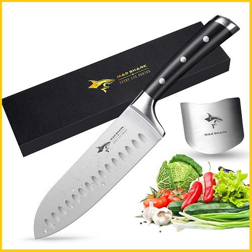 Santoku Knife - MAD SHARK Pro Kitchen Knives 7 Inch Chef's Knife