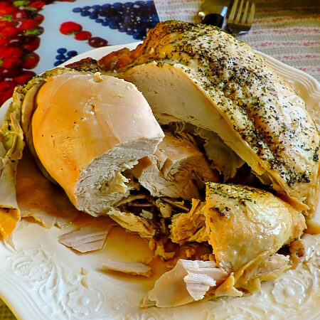 Shredded turkey breast